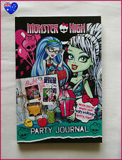 MONSTER HIGH PARTY JOURNAL + Party Tips  155pg Recipes Games Activies BOOK - New