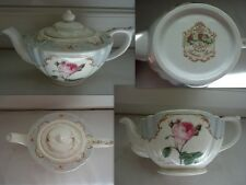 VINTAGE THEIERE QUEEN'S REDOUTES ROSES FINE BONE CHINA