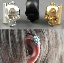 Random Retro  Style Skull Head Ear Bone Clip No Ear Hole  Clip-on Earring 1pc/