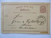 D.Reich Klaucke Stempel Barmen 1874 auf Ganzsache (49423)