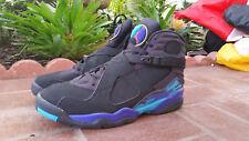 Mens Nike Air Jordan VIII 8 Aqua 2007 release OG 305381-041 black bright concord