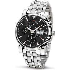 PHILIP WATCH orologio uomo cronografo automatico Wales acciaio movimento Valjoux