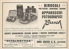 Z0383 Apparecchi Fotografici e Binocoli BUSCH - Pubblicità del 1931 - Advertis.