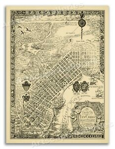 The Creole city of New Orleans 1930 Pictorial Map Poster Mardi Gras - 18x24