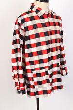 New listing Vintage 50s Weldon Cotton Plaid Loop Collar Pajama Shirt Usa Mens Size Large