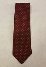 Richards Tie Red 100% Silk Silk Classic with White Circles