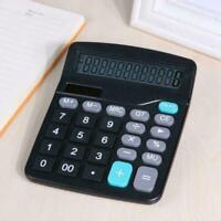 1* Solar Battery Desktop Calculator Basic 12 Digit Large Supplies Display O Y6I1