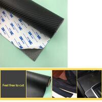 120*50CM Carbon Fiber Leather Stickers DIY Car Scuff Plate Door Sill Protector