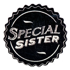 East of India Shabby Chic Black Wooden Magnet Friends Family Teacher Fun Gift Special Sister