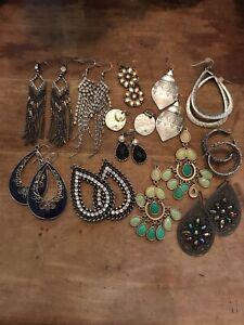 premier designs jewelry earrings lot of 12