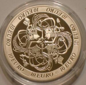 2007 Silver 10 Euro of Ireland Gem PROOF w/ Box & COA CELTIC CULTURE