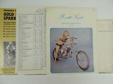 1970's Motorcycle Parts Catalog And Mailer Triumph Harley Chopper L1312