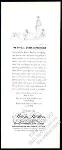 1935 Paul Brown jumping horse steeplechase art Brooks Brothers vintage print ad