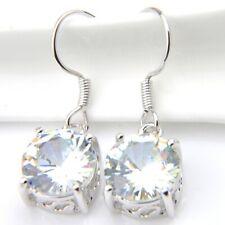 Anniversary Gifts Dazzling Luxury Rhinestones Gems Silver Dangle Earrings