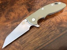 "Rick Hinderer Knives XM-18 3.5"" GEN 5 Wharncliff CPM20CV Working Finish OD Green"