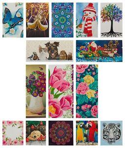 Craft Buddy Crystal Art Card Making Kit, Diamond Painting - NEW SIZES - DISCOUNT