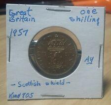 Very nice Great Britain shilling C/N 1957 AU km#905 Look & bid or buy it now!!!!