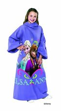 """Disney Frozen, Sisters Youth Comfy Throw Blanket with Sleeves, 48"""" x 48"""""""