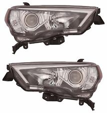 TOYOTA 4RUNNER 2014 2015 2016 BLACK HEADLIGHT HEAD LAMP FRONT LIGHT - PAIR