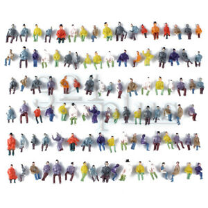 100 pcs Only Sitting HO Figures People 1:87 Scale Human People 15mm H0 Miniature
