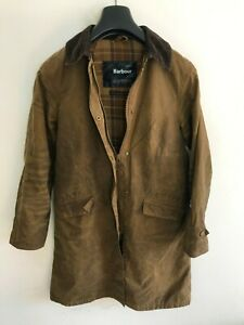 Womens Barbour Newbury Jacket Coat size 8/10 S/M Brown Wax Cotton Trench