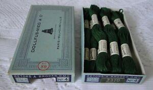DMC DOLLFUS MIEG 9 échevettes coton retors à broder art.89 N° 4 réf 2319 boite