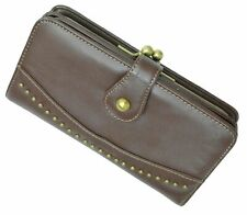 Mundi Faded Glory Checkbook Card ID Holder Wallet With Metal Frame