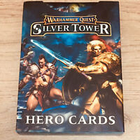 Warhammer Quest Silver Tower Hero Cards Expansion Pack Complete Excellent!