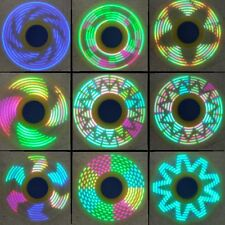 18 Changings LED Rainbow Light Hand Spinner Tri Fidget EDC Toy Focus ADHD Sweet