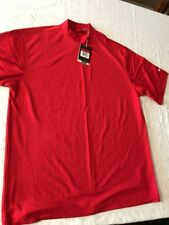 Nike Golf Men's Polo Shirt, DriFit with Uv Protection, Red, Size Large, Nwt