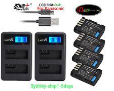 4x 1860mAh Battery for Panasonic DMW-BLF19E BLF19 Lumix DMC-GH3 DMC-GH4 DMC-GH5