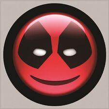 GOLF / Deadpool Smiley Face Logo Golf Ball Marker w/ Magnetic Hat Clip! New!!