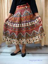 GYPSY Fashion clothing INDIAN COTTON HAND BLOCK PRINT WRAP AROUND SARONG SKIRT 5