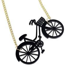 BIG BLACK BICICLETTA Collana Vintage Retrò Kitsch ECCENTRICO dichiarazione Ciclista CICLO
