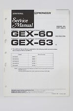 PIONEER gex-60 gex-63 original additional Service-Manual/Schema Elettrico! o69