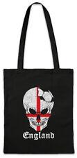 England Football Skull I Shopper Shopping Bag english Soccer Flag World