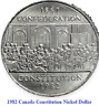 1982 Canada Constitution Nickel Dollar Coin. UNC 1 $ Canadian Coins