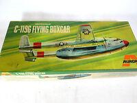 Vintage 1969 Aurora Fairchild C-119G Flying Boxcar plastic model airplane kit