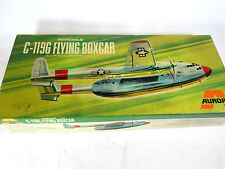 Vintage 1969 Aurora Fairchild C-119G Flying Boxcar plastic model airplane kit