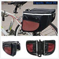 Bike Back Pannier Bicycle Seat Bag Cycling Rack Pannier Road Bike Storage Bag
