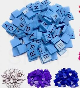 Coloured Wooden Scrabble Tiles - scrapbooking and Arts & Craft