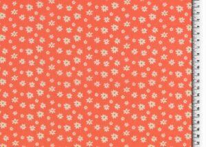Baumwollstoff Blümchen auf orange - ab 0,25m bei 1,40m Stoffbreite