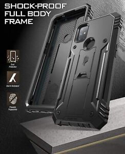 For OnePlus Nord N10 5G Phone Case Heavy Duty Shockproof Cover (w/Stand) Black
