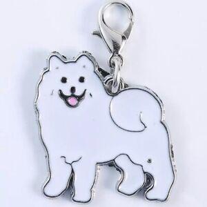 SAMOYED DOG ZIP PULL BAG CHARM CROCHET COUNTER KEYRING CHARM NICE LITTLE GIFT