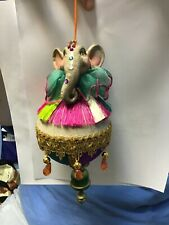 Katherine's Collection Animal Elephant Finial Ornament Colorful 9�