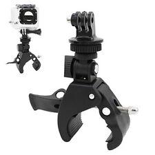 KE _ Bicicleta Bici Abrazadera del manillar montaje de barra rodante + Adaptador de trípode para GoPro Hero