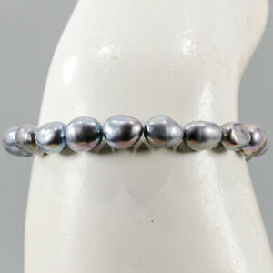 """One of a kind Pearl Bracelet 925 Sterling Silver  Inches 7""""/BR05647"""