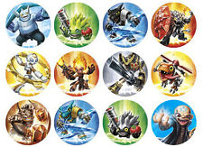 12 Skylanders Trap Team WaferPaper Cupcake Cup Cake Decoration Toppesr Images