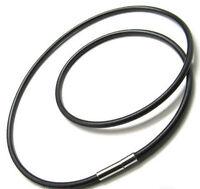 Best Leather Cord Pendant Necklace AU NEW SERIES 1Pcs Men's Steel Clasp O5R