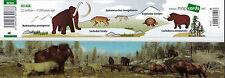 3D -Wackel- Lineal: Tiere der Eiszeit - Mammut, S#belzahntiger, Wollnashorn u.a.